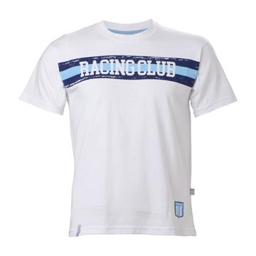 REMERA RACING CLUB 3 LINEAS NIÑO