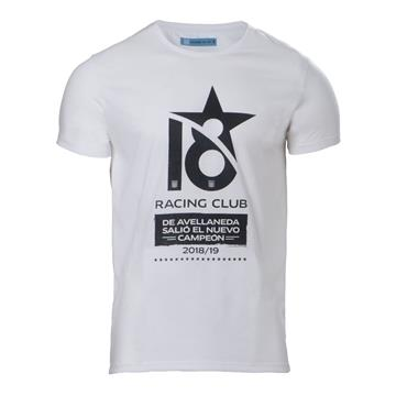 "REMERA "" RACING CAMPEON 18"""
